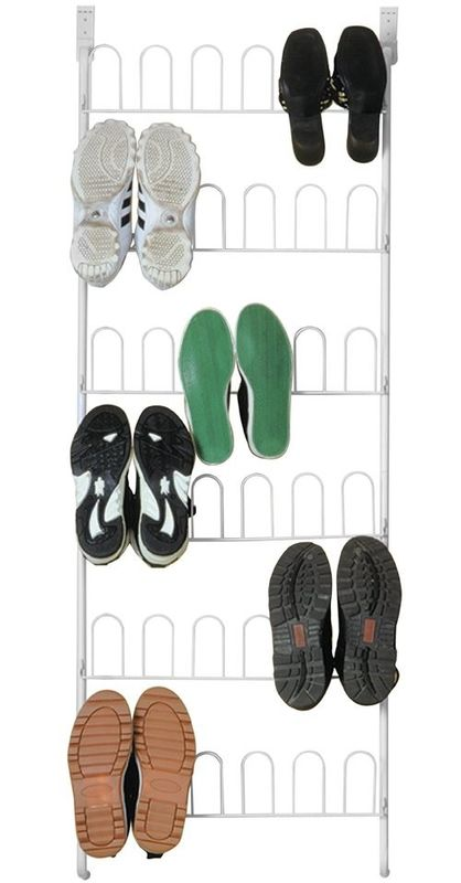 Multilayer U Door Home Display Rack For Shoes Storage 18 Pair Knock Down